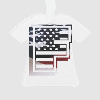 Monogramm-Initiale USA-Flaggen-Muster des Ornament
