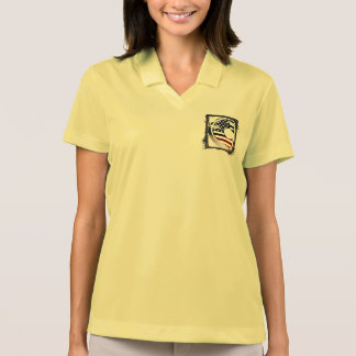 Monogramm-Initiale USA-Flaggen-Muster des Polo Shirt