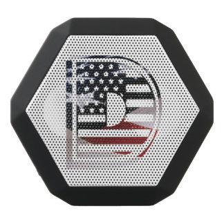 Monogramm-Initiale USA-Flaggen-Muster des Schwarze Bluetooth Lautsprecher