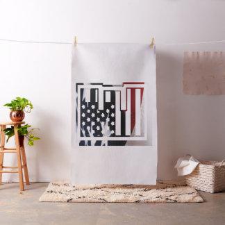 Monogramm-Initiale USA-Flaggen-Muster des Stoff