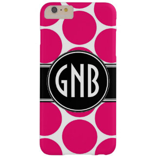 MONOGRAMM-INITIALEN-PINK-TUPFEN BARELY THERE iPhone 6 PLUS HÜLLE