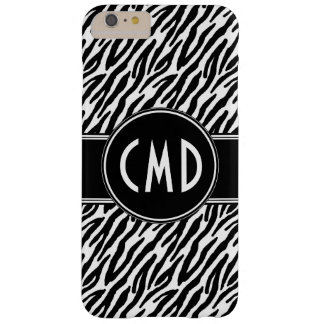 MONOGRAMM-INITIALENzebra-TIERdruck Barely There iPhone 6 Plus Hülle