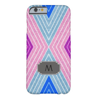 Monogramm iPhone Fall mit geometrischem Zickzack Barely There iPhone 6 Hülle