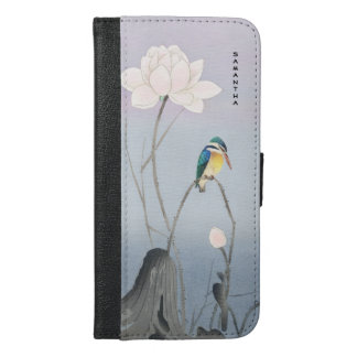 Monogramm-japanisches Eisvogel iPhone 6/6s plus iPhone 6/6s Plus Geldbeutel Hülle