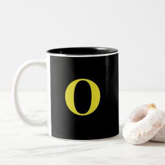 Monogramm-Kaffee Tasse-O Zweifarbige Tasse