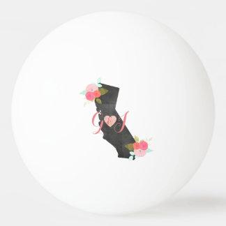 Monogramm-Kalifornien-Staatchic-Blumenhochzeit Tischtennis Ball