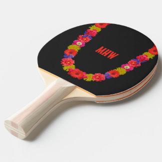 Monogramm-Klingeln pong Paddel der hawaiischen Leu Tischtennis Schläger