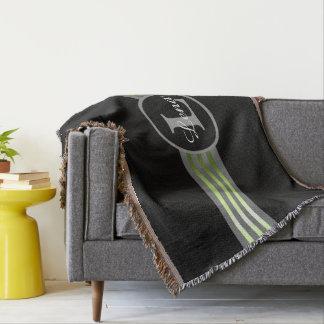 modisches schwarzes baumwolldecken. Black Bedroom Furniture Sets. Home Design Ideas