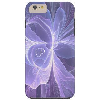 Monogramm-lila abstraktes modernes Fraktal Tough iPhone 6 Plus Hülle
