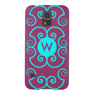 Monogramm-lila Samsungs-Galaxie-Telefon-Abdeckung Galaxy S5 Cover