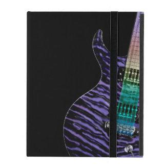 Monogramm-lila Tiger-Streifen-elektrische Schutzhülle Fürs iPad