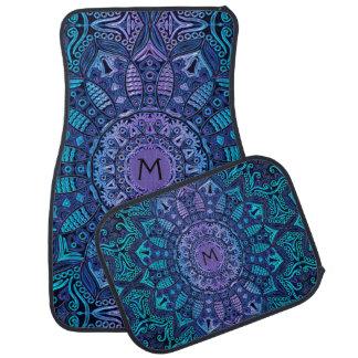 Monogramm-Mandala-Auto-Boden-Matten Automatte
