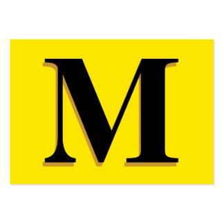 Monogramm Mini-Visitenkarten