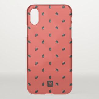 Monogramm. Minimalist. Sommer-Wassermelonen iPhone X Hülle