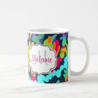 Monogramm mit Blumen Kaffeetasse