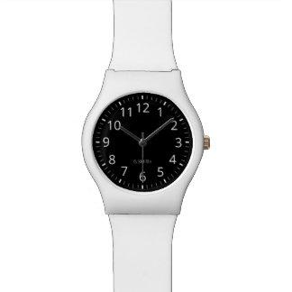 Monogramm. Modern. Schwarzes u. Weiß Armbanduhr