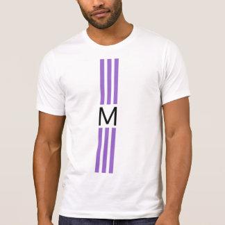 Monogramm-moderne Amethyst Streifen T-Shirt
