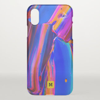 Monogramm. Moderne Fluss-Farben-Farben iPhone X Hülle