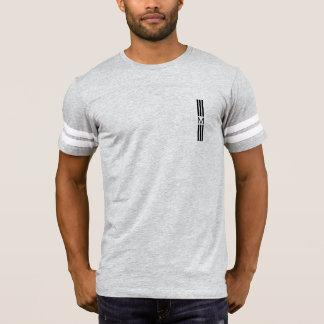 Monogramm-moderne schwarze Streifen T-Shirt