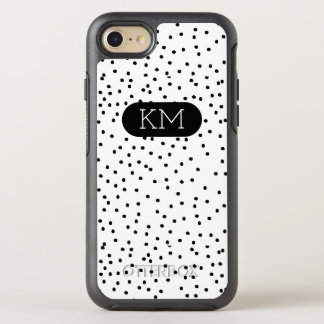 Monogramm-moderner Tupfen OtterBox Symmetry iPhone 8/7 Hülle