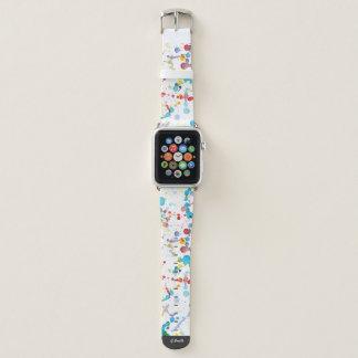 Monogramm. Moderner Watercolor abstrakter Art. Apple Watch Armband
