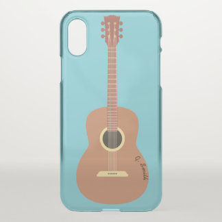 Monogramm. Musikinstrument. Lustige Gitarre iPhone X Hülle