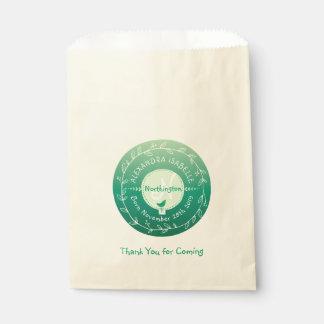 Monogramm-neugeborenes Baby Ombre grüner Geschenktütchen
