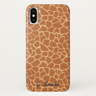 Monogramm: Niedliche Giraffe. Safari iPhone X Hülle