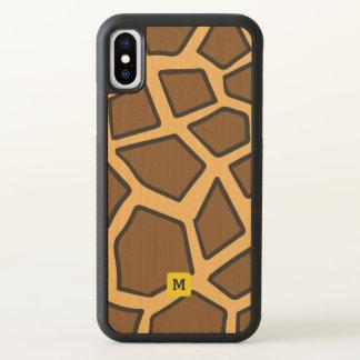 Monogramm. Niedliches Giraffen-Safari-Muster iPhone X Hülle