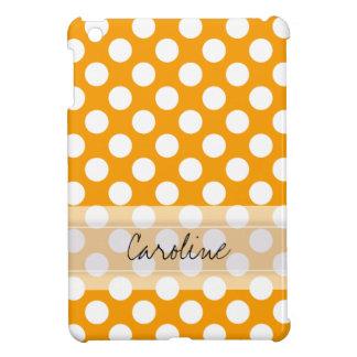 Monogramm-orange weißes modisches hülle für iPad mini