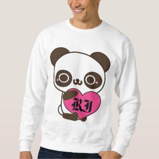 Monogramm-Panda-Herz Sweatshirt