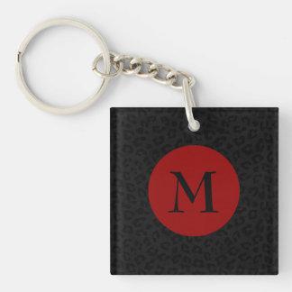 Monogramm-Panther-Druck Schlüsselanhänger