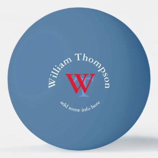 Monogramm - personalisiertes Blau Tischtennis Ball