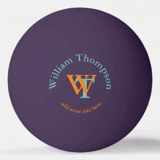 Monogramm - personalisiertes Lila Ping-Pong Ball