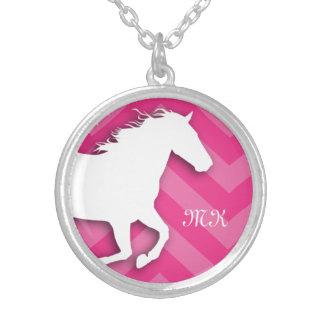 Monogramm-PferdeZickzack Halskette für sie