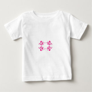 Monogramm-Rahmen Baby T-shirt