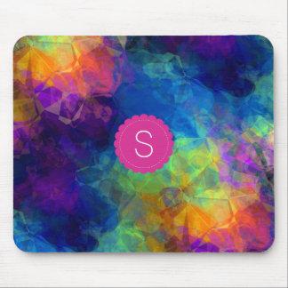 Monogramm-Regenbogen-geologisches abstraktes Mousepad