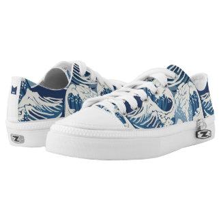 Monogramm-Reihe: Brandungs-Wellen-Muster Niedrig-geschnittene Sneaker