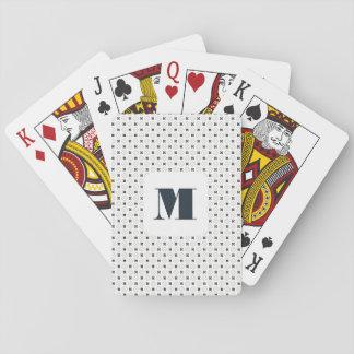 Monogramm-Reihe: Elegante geometrische blaue Spielkarten