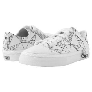 Monogramm-Reihe: Färben Sie Ihre geometrischen Niedrig-geschnittene Sneaker