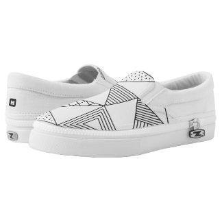Monogramm-Reihe: Geometrisches Muster Slip-On Sneaker