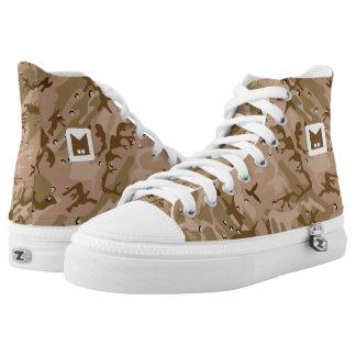Monogramm-Reihe: Ihre Camouflage Hoch-geschnittene Sneaker