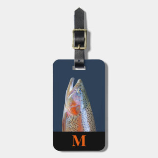 Monogramm-Reise-grauer orange Kofferanhänger
