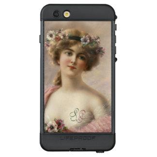 Monogramm-romantisches viktorianisches LifeProof NÜÜD iPhone 6s plus hülle