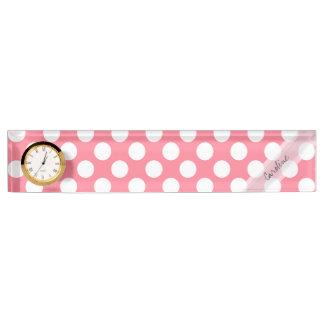 Monogramm-rosa weißes modisches Spaß-Tupfen-Muster