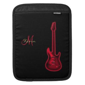 Monogramm-rote E-Gitarren-Musik iPad Hülse Sleeve Für iPads