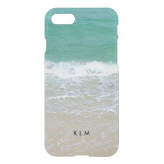 Monogramm-Sandy-Strand-Ozean iPhone 7 Hülle