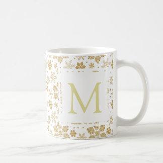 Monogramm-Schneeflocke Kaffeetasse