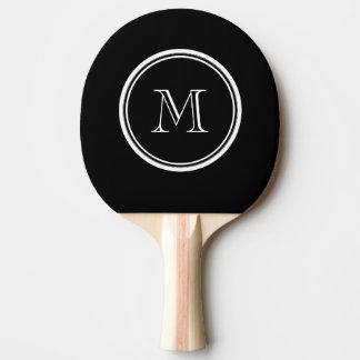 Monogramm-schwarze zuerstobere Grenze gefärbt Tischtennis Schläger