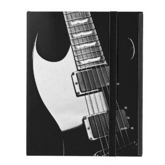 Monogramm-Schwarzweiss-Gitarren-Musik iPad Hüllen